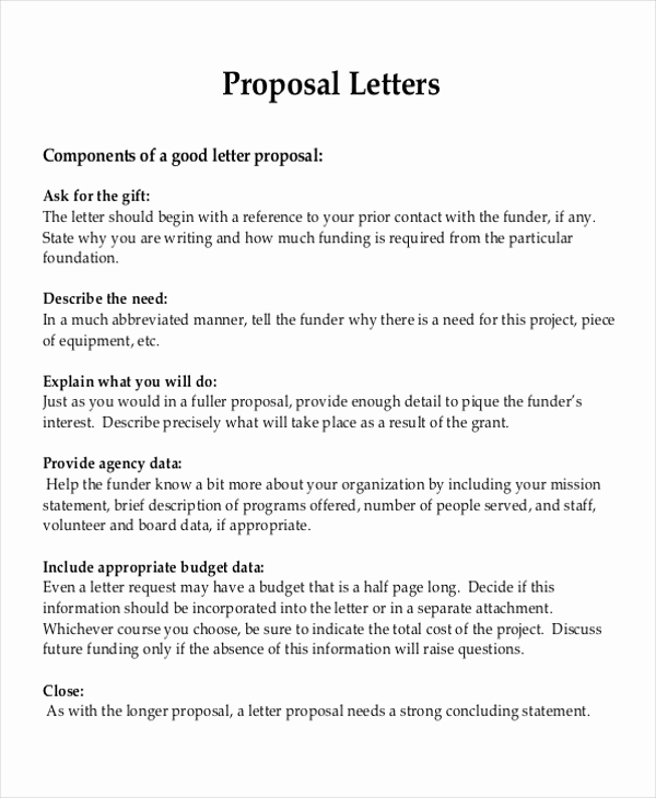 Writing A Proposal Letter Best Of 9 Sample Project Proposal Letter Examples In Word Pdf