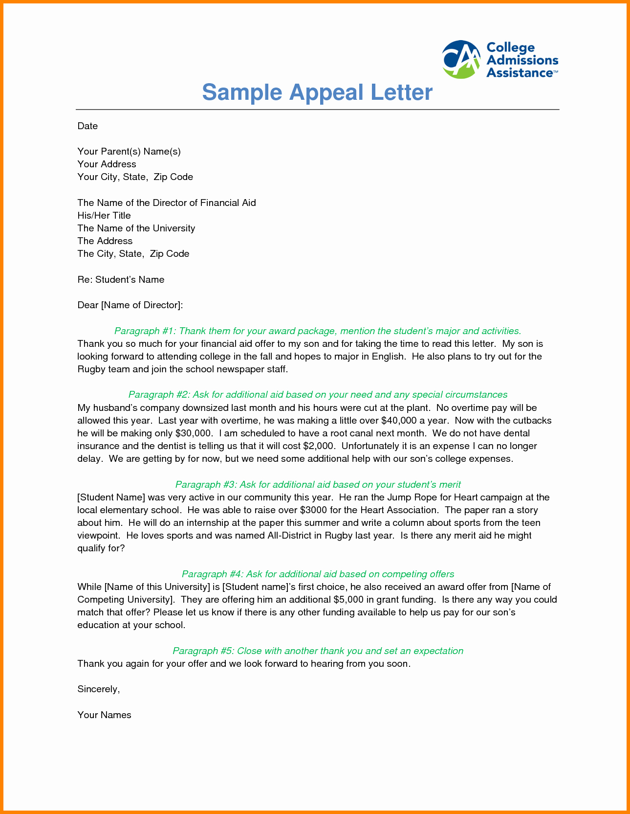 Writing An Appeal Letter Best Of 7 Example Of Financial Aid Appeal Statement