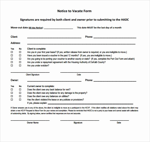 Written Notice to Vacate Inspirational 24 Free Eviction Notice Templates Excel Pdf formats