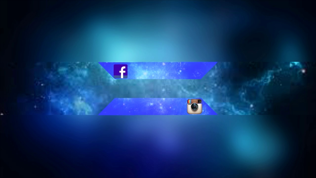 Youtube Banner Template No Text New Free Channel Banner No Text Blue Space