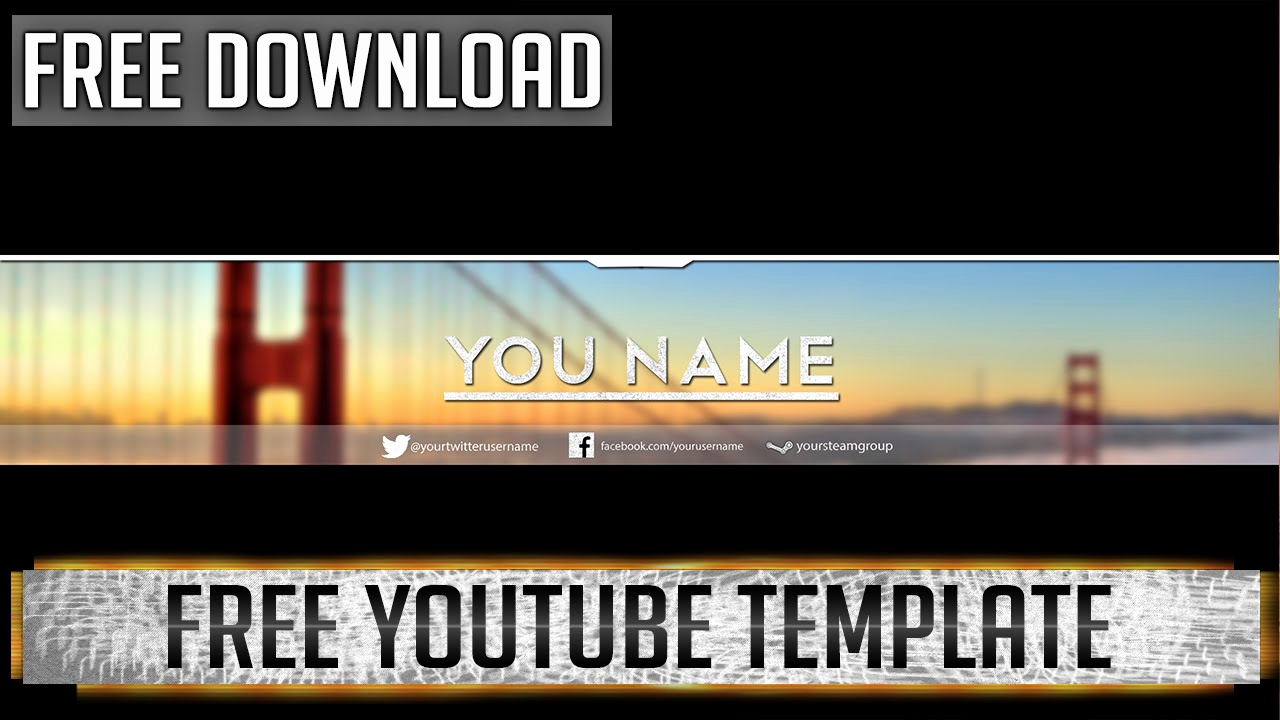 Youtube Banner Template Photoshop Awesome Professional Banner Shop Template Free