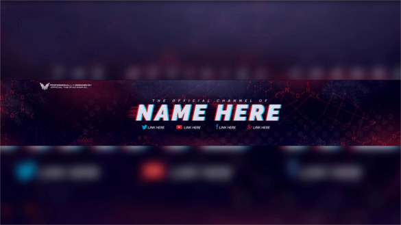 Youtube Banner Template Photoshop Best Of Youtube Banner Template Psd