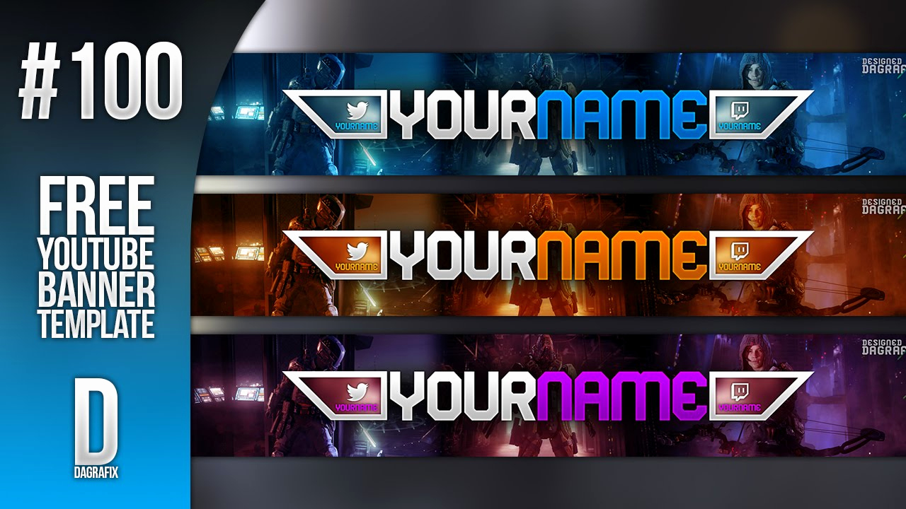 Youtube Banner Template Photoshop Elegant 100th Banner Template Free Shop Download