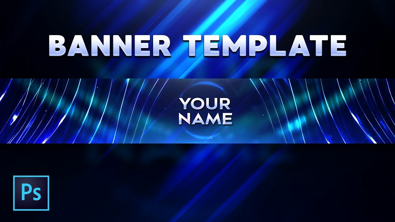 Youtube Banner Template Photoshop Fresh Free Abstract Youtube Banner Template Free Download