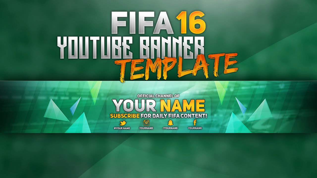 Youtube Banner Template Photoshop Fresh Free Fifa16 Youtube Banner Template Shop