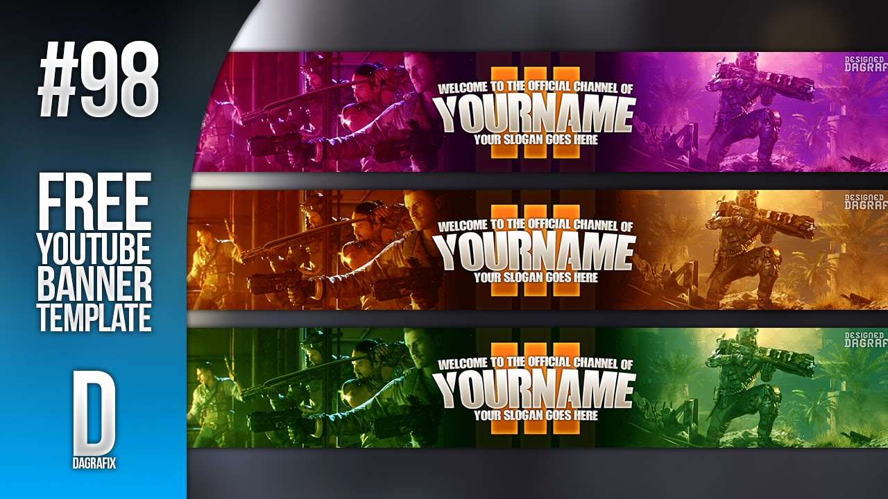 Youtube Banner Template Photoshop Inspirational Bo3 Banner Template Download 98 Free Shop