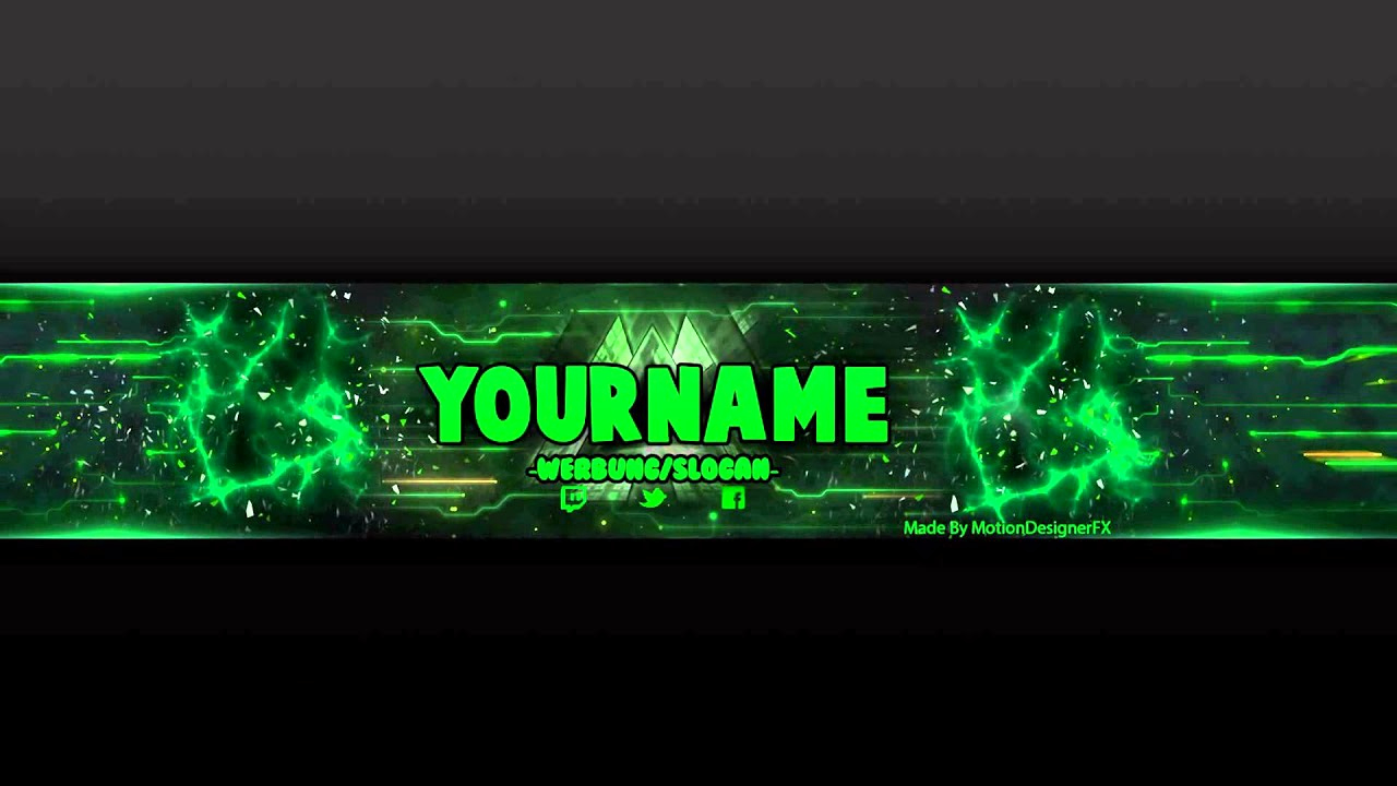 Youtube Banner Template Photoshop Lovely Youtube Banner Template Green Psd Shop