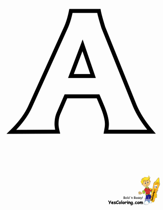Letter A Printable Awesome Standard Letter A Alphabet Printable