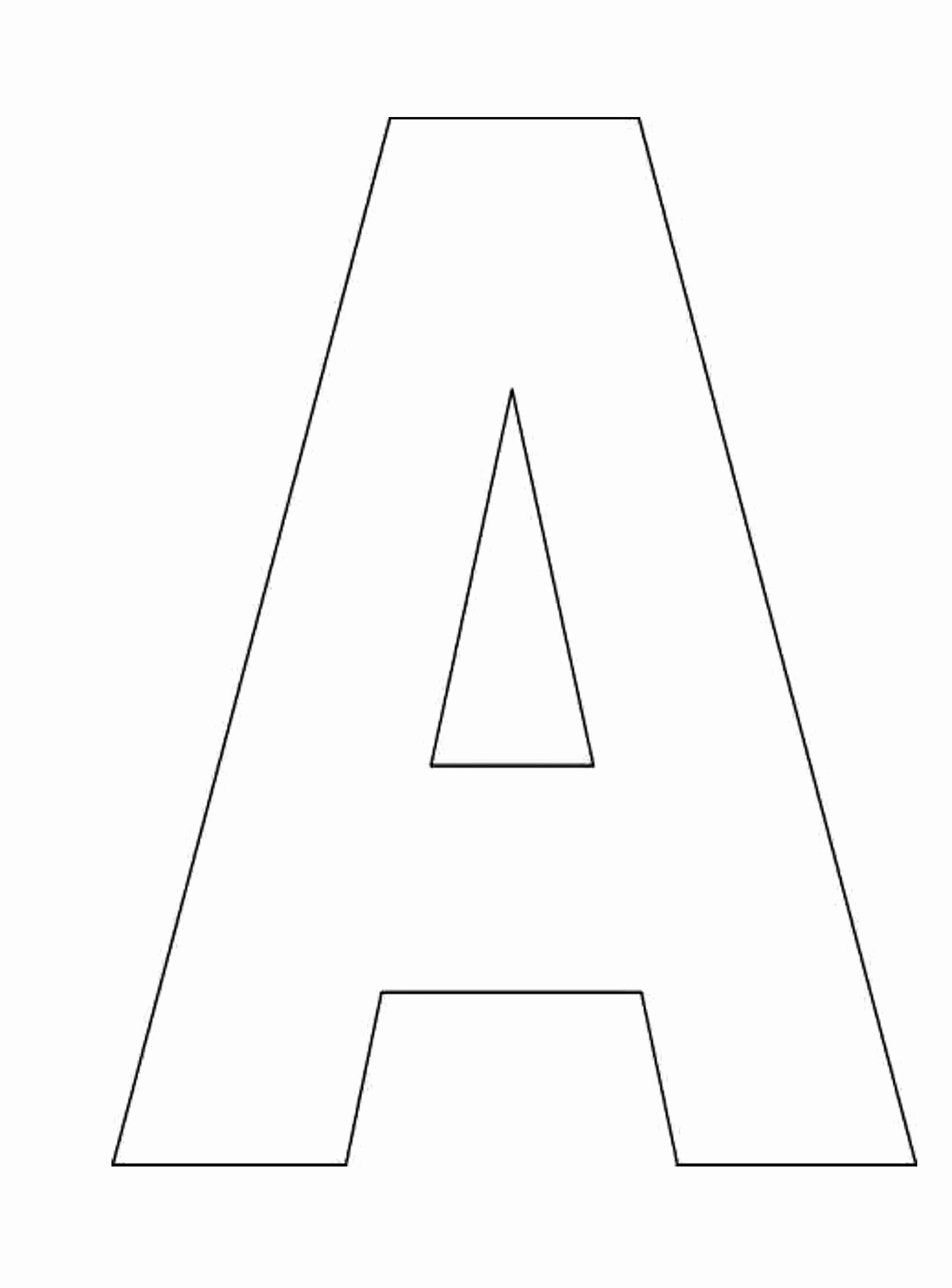Letter A Printable Beautiful A Letter Cliparts