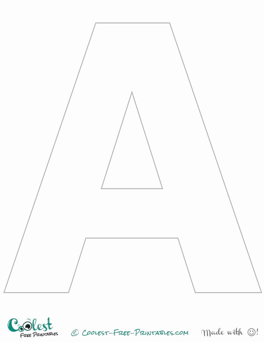 Letter A Printable Elegant Printable Letter A Stencil Uppercase