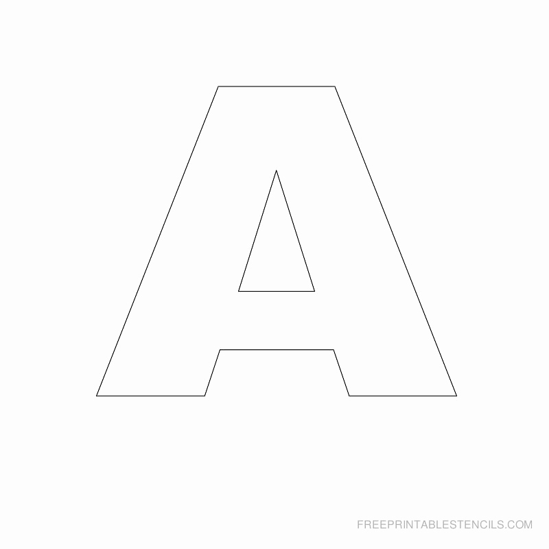 Letter A Printable Unique Big Letter Printable Stencils A