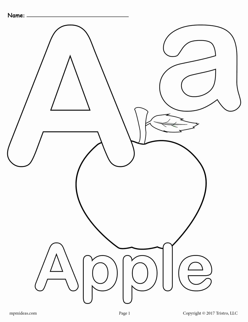 Letter A Printable Unique Letter A Alphabet Coloring Pages 3