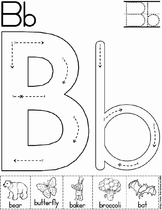 Letter B Printable Awesome Abc Worksheet Letter B