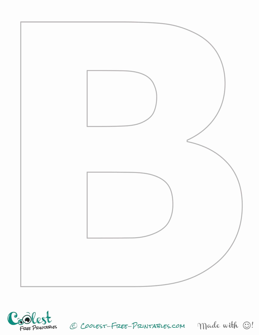 Letter B Printable Best Of Free Printable Stencil Letters the Letter