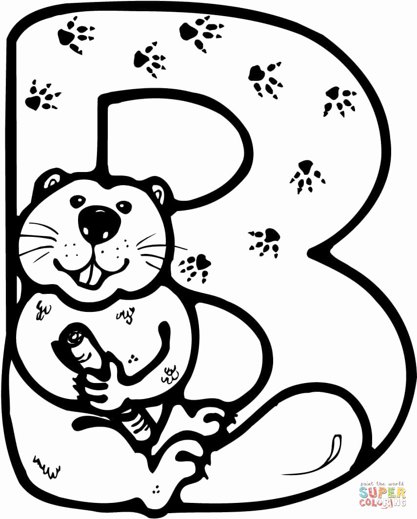 Letter B Printable Best Of Letter B is for Beaver Coloring Page