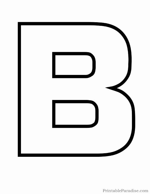 Letter B Printable Elegant Printable Letter B Outline Print Bubble Letter B