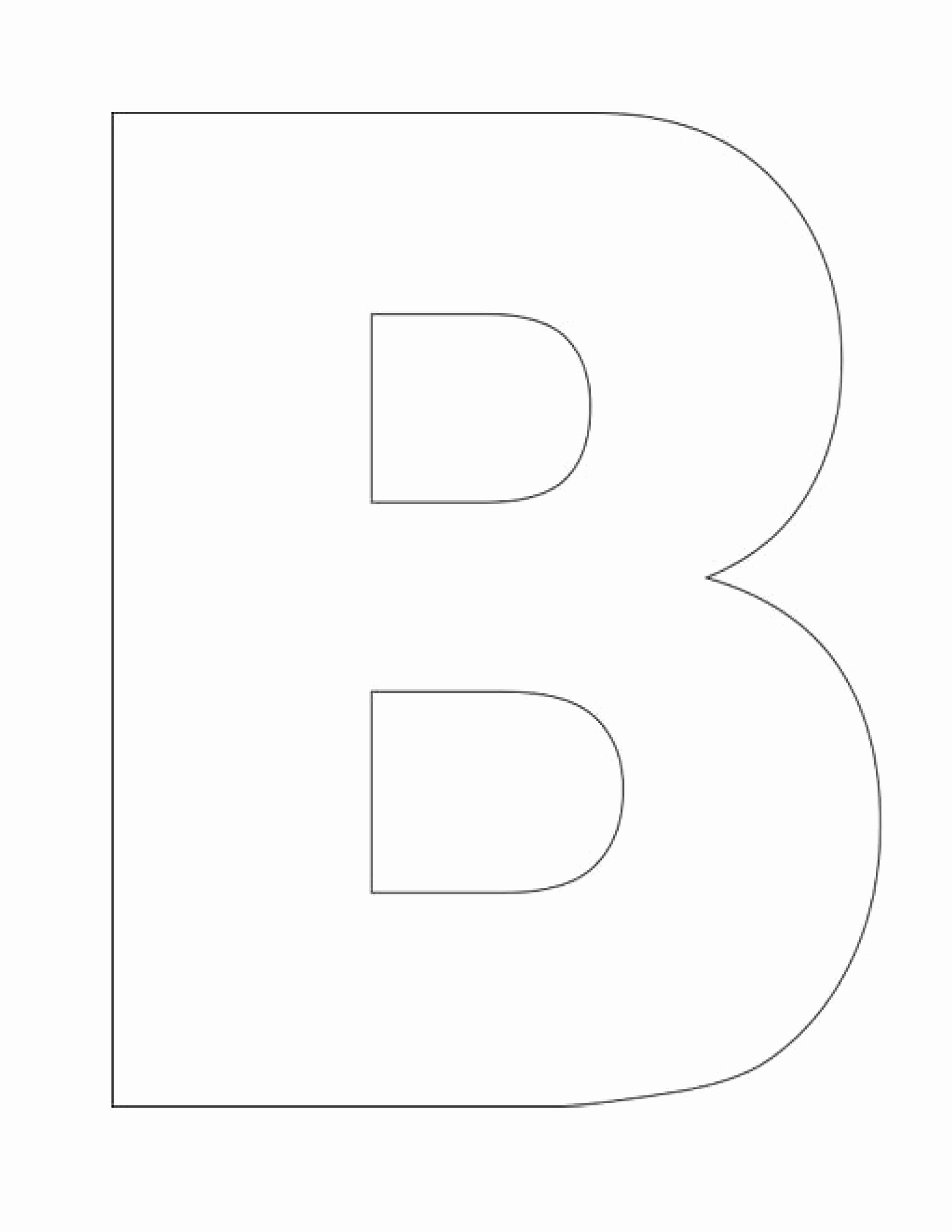 Letter B Printable Inspirational Alphabet Letter B Template Homeschool