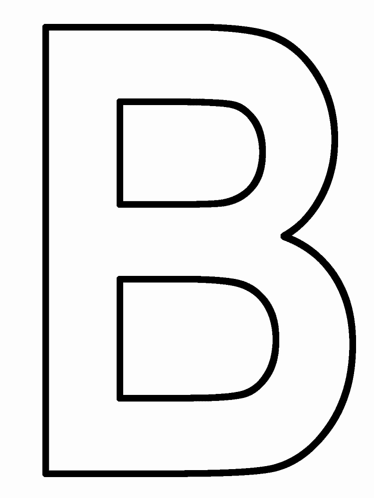 Letter B Printable Inspirational Letter B Clipart Cliparts
