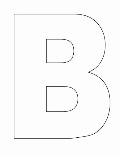 Letter B Printable Unique Here S A Simple Alphabet Letter B Template for Kids This