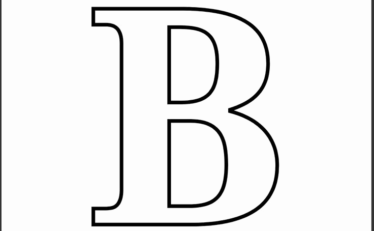 Letter B Printable Unique Printable Letter B Coloring Page